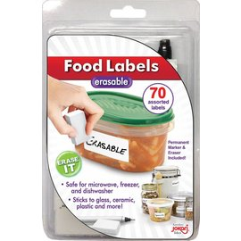 Jokari Jokari Erasable Food Labels with Pen and Eraser
