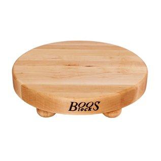 Boos Blocks(John Boos & Co.) Boos Block Cutting Board Round w Bun Feet Maple 12 x 1.25 inch
