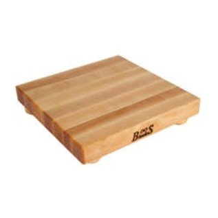 Boos Blocks(John Boos & Co.) Boos Block Cutting Board w Bun Feet Square Maple 12 x 12 x 1.25 inch