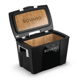 Sovaro Sovaro Hard-Sided Cooler Standard 45 Qt Black Silver