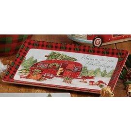 Certified International Certified International Home For Christmas Rectangular Platter 13x8 inch