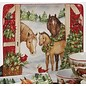 Certified International Certified International Christmas on the Farm Square Platter 12.5 inch