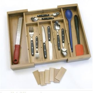 Lipper Lipper Bamboo Expandable Organizer - Removable Dividers