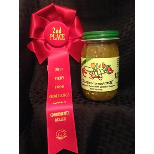 A & J Salsa A & J Salsa WARM Sweet Pepper Relish with Jalapeno Peppers