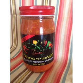 A & J Salsa A & J Salsa HOT with Habanero & Ghost Peppers