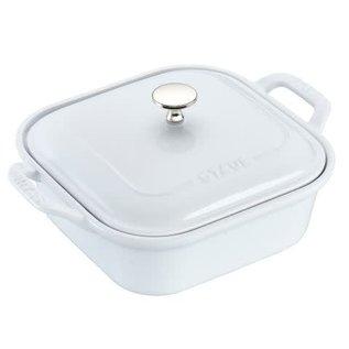 Staub Staub Ceramic Covered Sauare Baking Dish 9 inch White