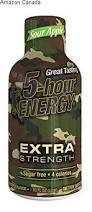 5 HOUR ENERGY FOOD 5-HR EXTRA STRENGTH SOUR APPLE SINGLES