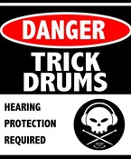 Trick Drums Danger Sticker