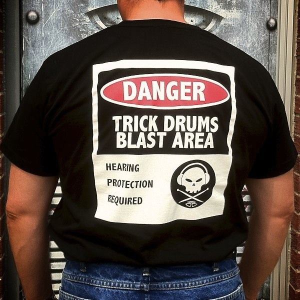 Trick Drums Warning Tee L