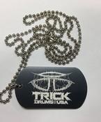 Trick Drums Doom Logo Dog Tag w/ Chain