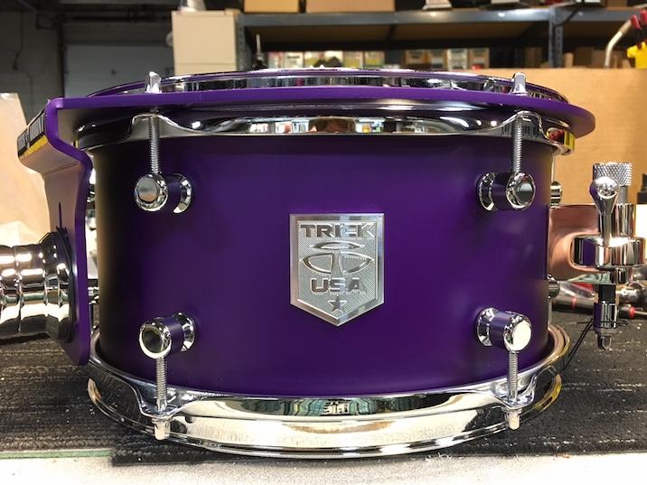 Trick Custom AL13 Drums Feature O 31mm Aluminum Shells Premium Powder Coated Finishes Chrome Hardware Lugs Milled Badges