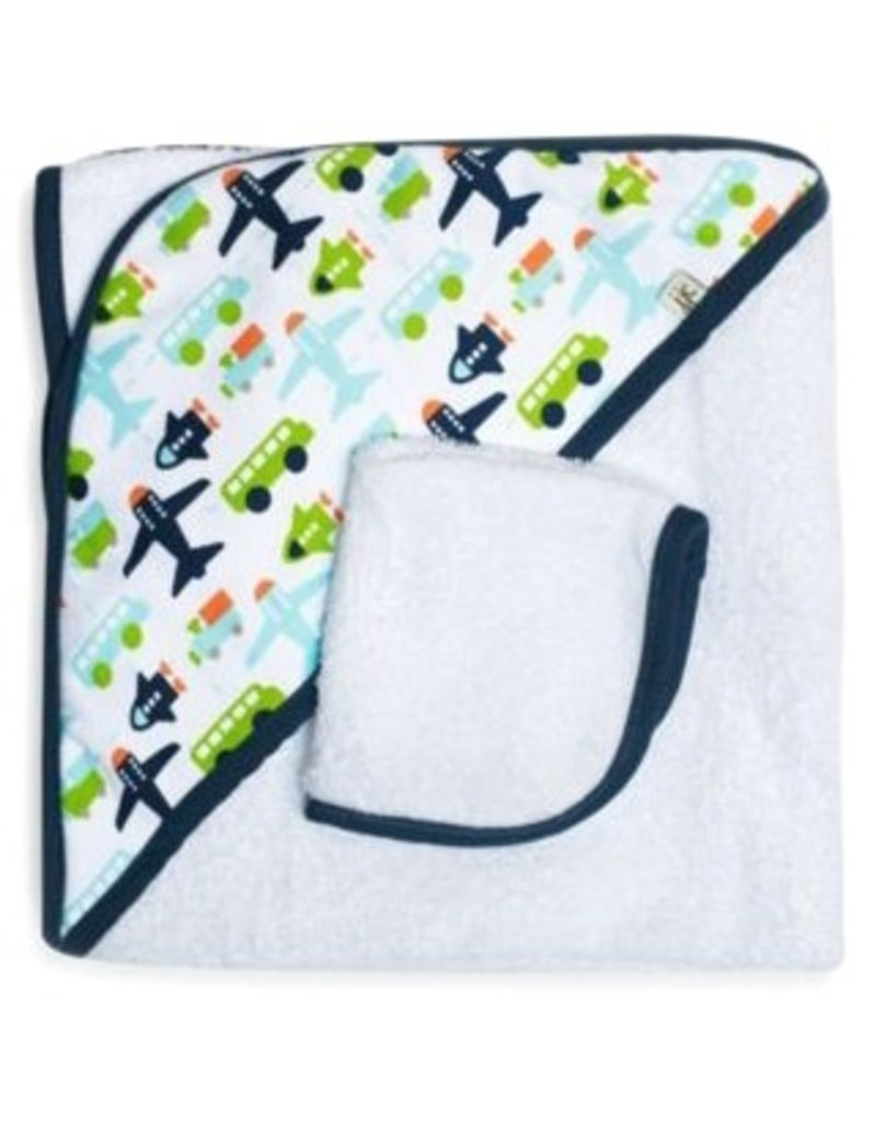 JJ Cole JJ Cole Hooded Towel - White Vroom