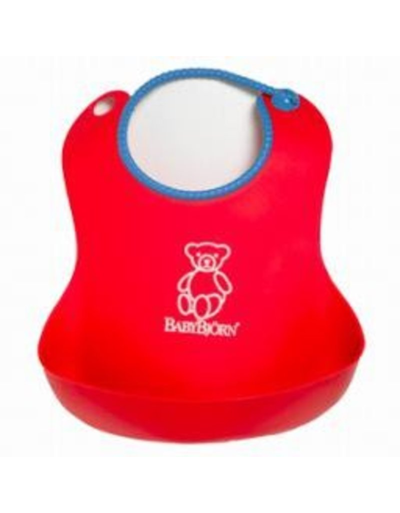 Baby Bjorn Soft Bib-Red