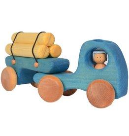 L'Atelier Cheval De Bois L'Atelier Cheval De Bois Logging Truck Push Toy
