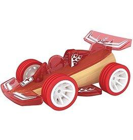 Hape Toys Bamboo Mini Racer - Red