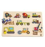 Hape Toys Hape Construction Site Peg Puzzle