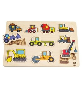 Hape Toys Hape Construction Site Peg Puzzle