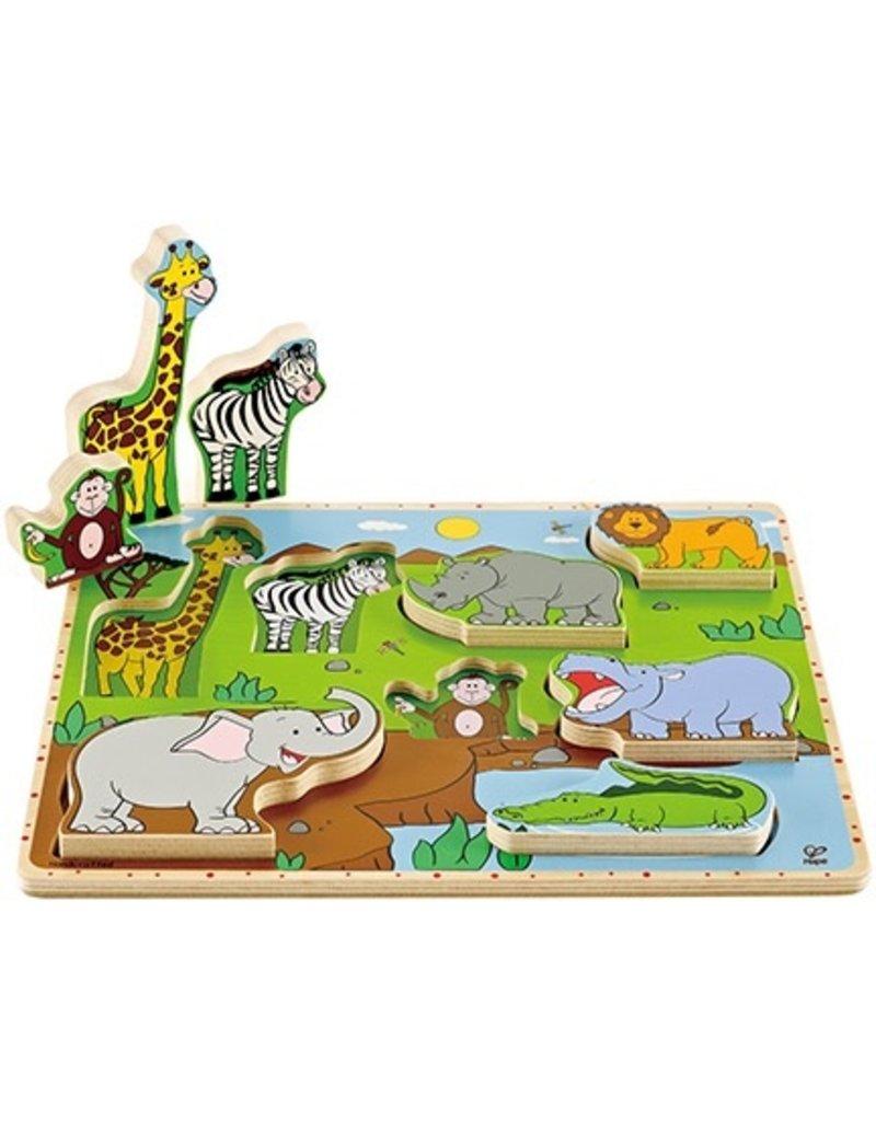 Hape Toys Hape Wild Animals Stand-up Puzzle