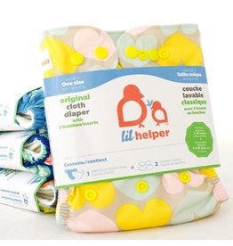 Lil Helper Lil Helper Bamboo Diaper - Prints