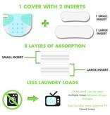 Lil Helper Lil Helper Bamboo Diaper - Prints