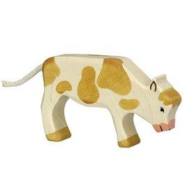 Holztiger Holztiger Cow, grazing, brown