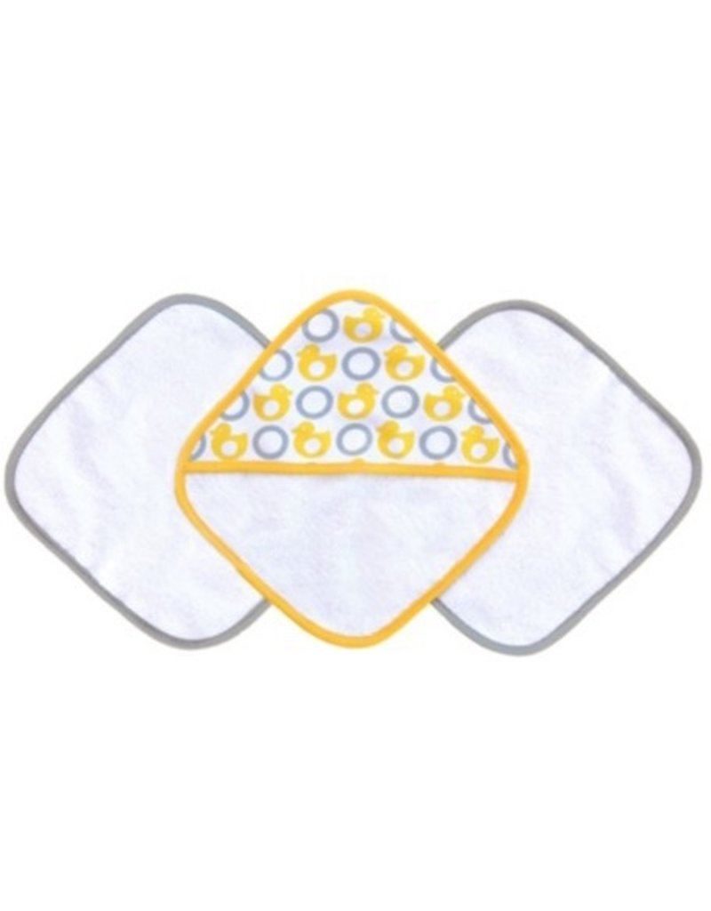 JJ Cole JJ Cole Washcloth Set - Yellow Ducks