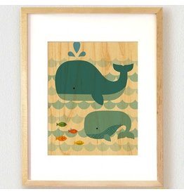 Petit Collage Petit Collage Whale Baby Print 8.5x11