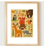 Petit Collage Petit Collage Forest Parade Print 11x14