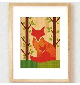 Petit Collage Fox Print 11x14