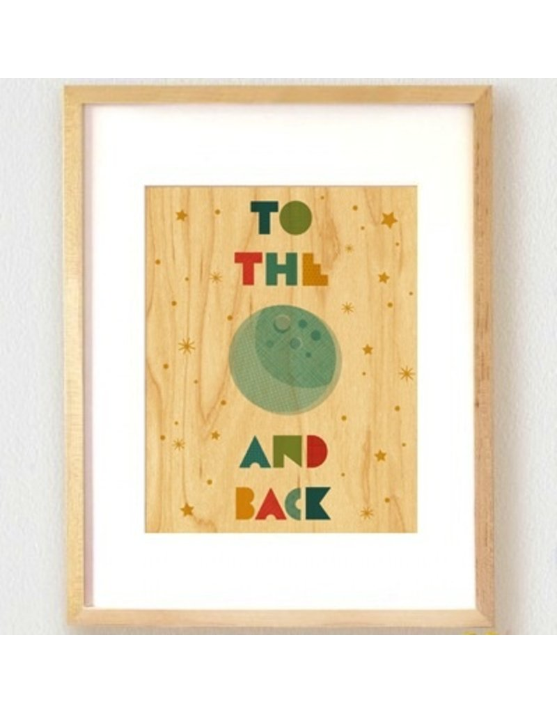 Petit Collage Petit Collage Moon Print 11x14
