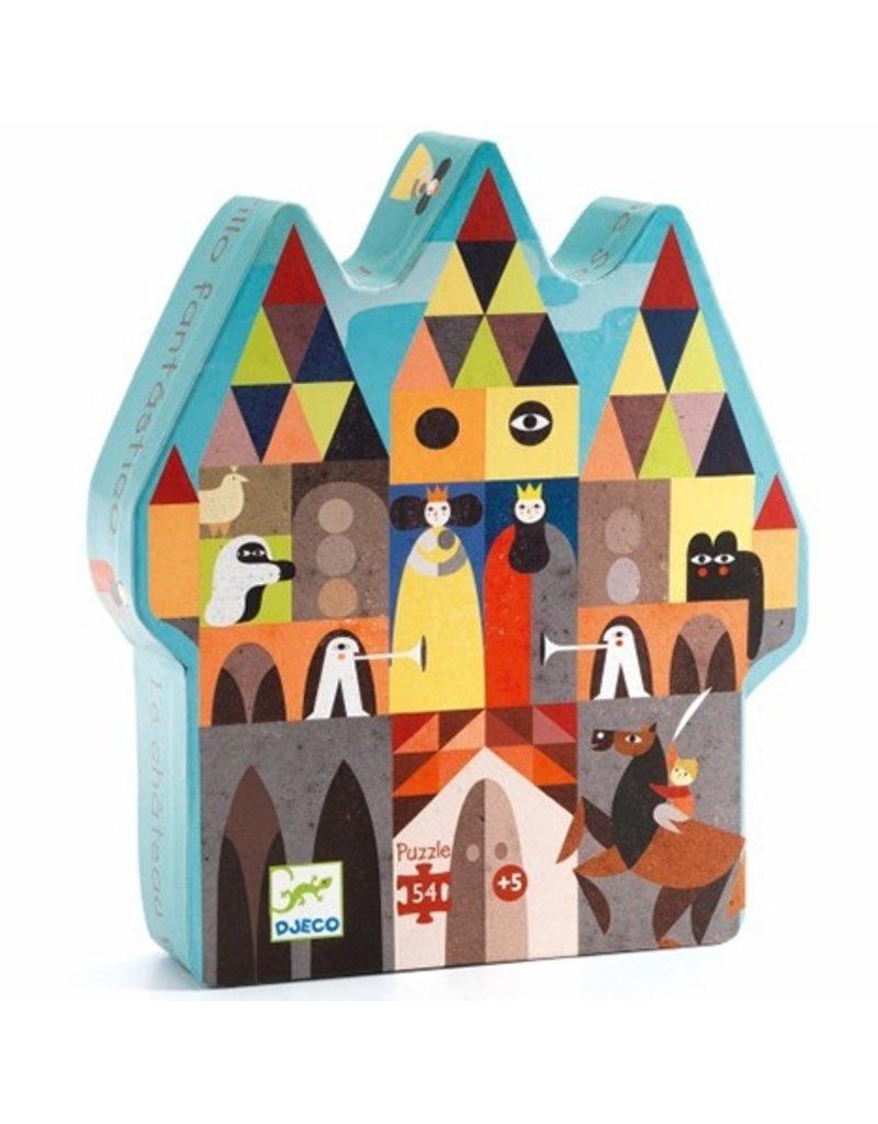 Djeco Djeco Silhouette Puzzle - Fantastic Castle 54pc