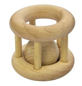 iPlay iPlay Wooden Cage Rattle