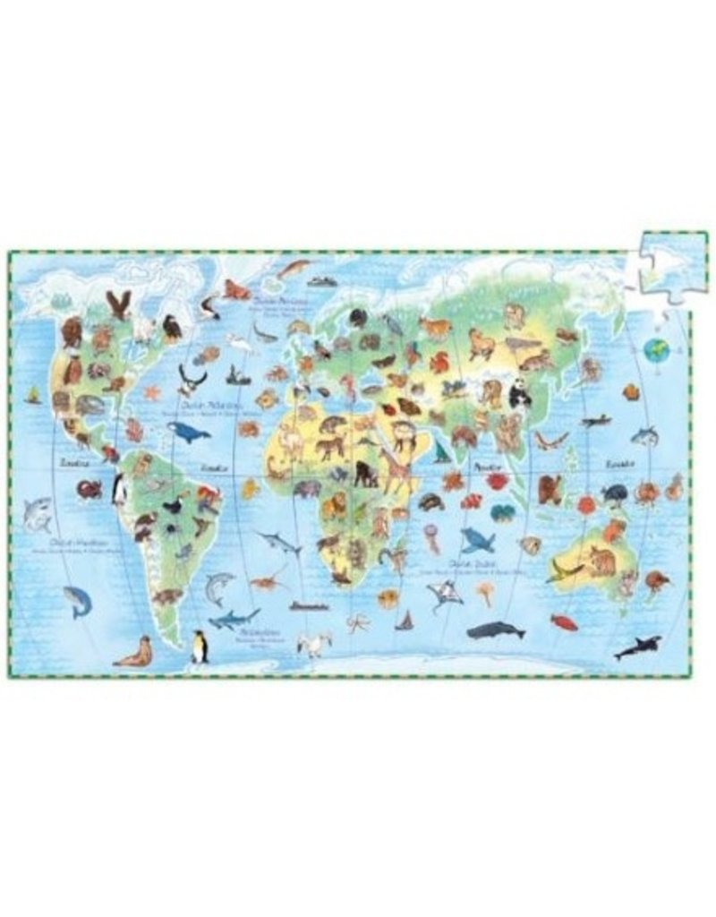 Djeco Djeco Observaion Puzzle - World'S Animals 100pc