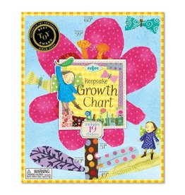 Eeboo Eeboo Growth Chart - Hot Pink Flower
