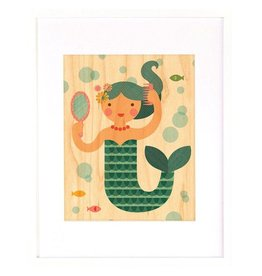 Petit Collage Petit Collage Mermaid Print 8.5x11
