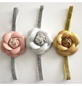 Leather (PU) Flower Headband