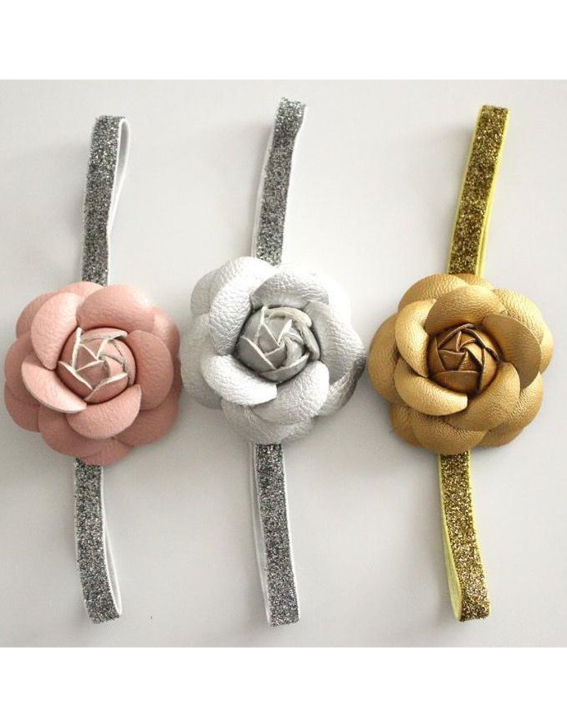Leather (PU) Flower Headband