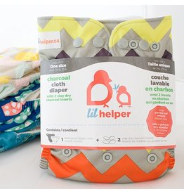 Lil Helper Lil Helper Charcoal Diaper - Prints