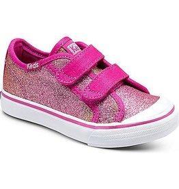 Stride Rite Keds Sugar Dip Glittery Hook & Loop Sneaker
