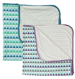 Silkberry Silkberry Bamboo Triangle Print Receiving Blanket