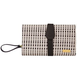 JJ Cole JJ Cole Changing Clutch -  Black & Cream