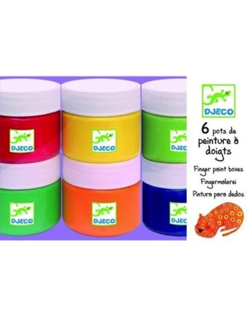 Djeco Djeco 6 Bottles Of Finger Paint