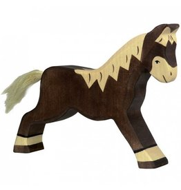 Holztiger Horse, running, brown