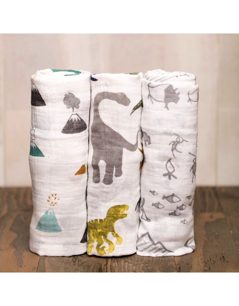 Little Unicorn Little Unicorn Muslin 3pk - Dino Friends