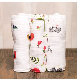 Little Unicorn Little Unicorn Muslin 3pk -  Poppy