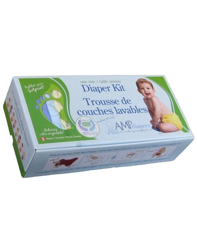 AMP Diapers Amp One Size Hemp Diaper Kit