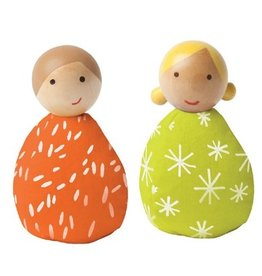 Manhattan Toys MIO People Set  - Orange/Green
