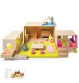 Manhattan Toys MIO Playing Eating Sleeping Working + 2 People