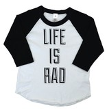 Locomotive Clothing Life is Rad Baseball Tee