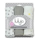 Lulujo Lulujo Muslin Cloths 3Pk